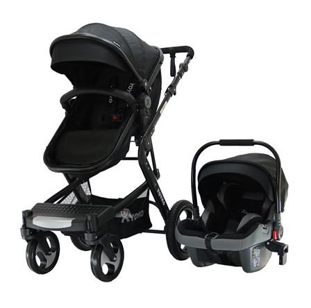 Yoyko - Yoyko Elegance Travel Sistem Bebek Arabası 3 in 1 Siyah Siyah