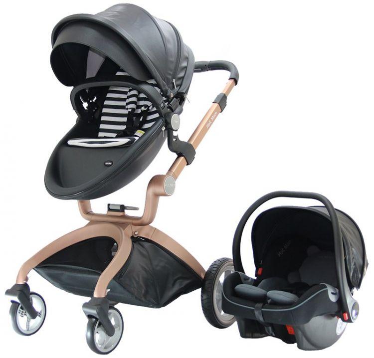 Yoyko - Yoyko Hotmom Travel Sistem Bebek Arabası Ana Kucaklı Siyah Rose Kasa