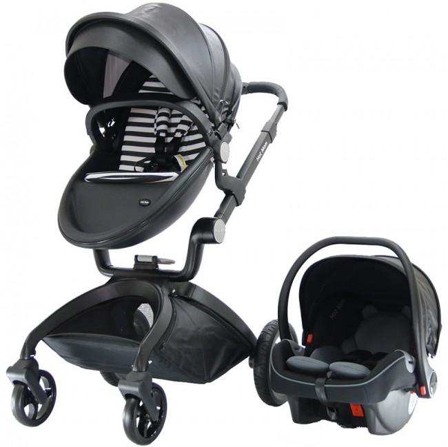 Yoyko - Yoyko Hotmom Bebek Arabası Ana Kucaklı Siyah Siyah Kasa (TKY383)
