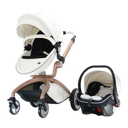 Yoyko - Hotmom Bebek Arabası Ana Kucaklı Beyaz Rose Kasa (TKY380)