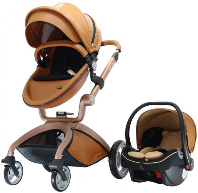 Yoyko - Yoyko Hotmom Çift Yönlü Bebek Arabası Ana kucaklı Kahve