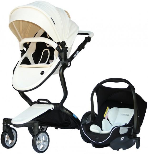 Yoyko - Yoyko Innovation Bebek Arabası 3 in 1 Beyaz