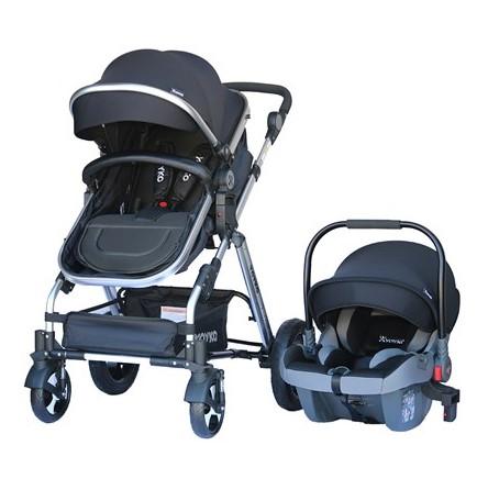 Yoyko - Yoyko Luxury Travel Sistem Bebek Arabası 3 in 1 Siyah Silver