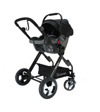 Yoyko Luxury Travel Sistem Bebek Arabası 3 in 1 Siyah Siyah