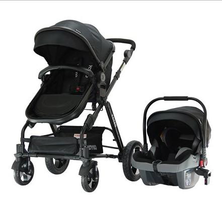 Yoyko - Yoyko Luxury Travel Sistem Bebek Arabası 3 in 1 Siyah Siyah