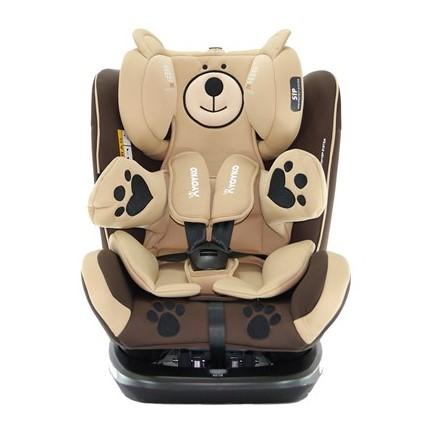 Yoyko - Yoyko Bear Dönebilir Yatabilir 0-36 Kg Oto Koltuğu ISOFIX/SIP/LATCH Kahverengi