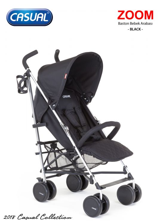 Casual - Zoom Baston Bebek Arabası - Black
