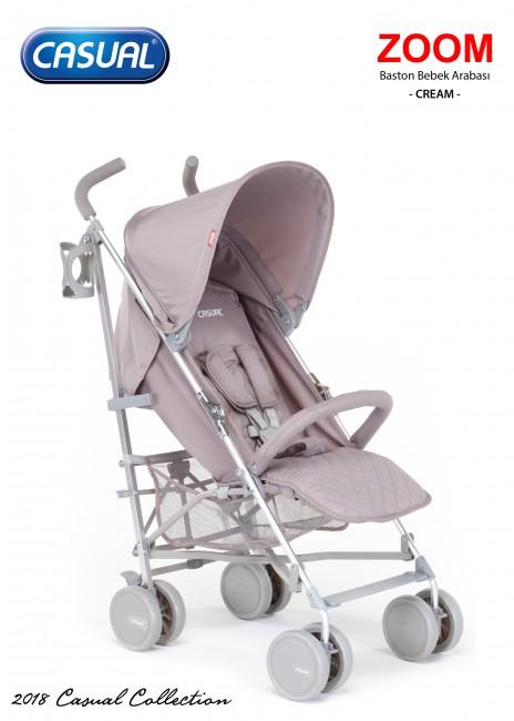 Casual - Zoom Baston Bebek Arabası - Cream