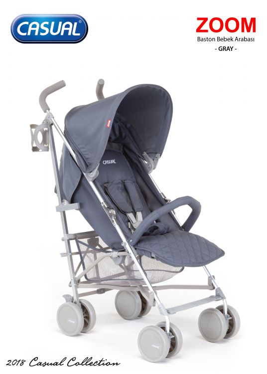 Casual - Zoom Baston Bebek Arabası - Gray